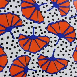 Oilcloth fabric Amapola - white x  10cm