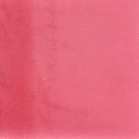 Tissu velours Brunei - rose incarnat x 10cm