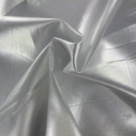 Tissu lamé satin - argent x 10cm