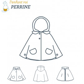 Perrine Cape L'Enfant Roi sewing pattern - From 2 to 14 years old