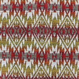 Tissu jacquard tissé teint Aztec - jaune x 10cm