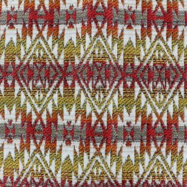 Woven jacquard woven dyed Aztec - yellow x 10cm