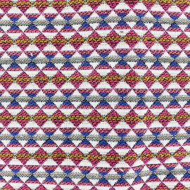 ♥ Only one piece 270 cm X 140 cm ♥ Woven jacquard woven dyed Teka - fuchsia
