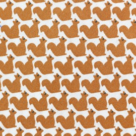 Cotton The little rodent fabric - white x 10cm