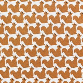 Tissu coton Le petit rongeur - blanc x 10cm