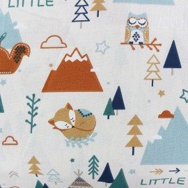 Tissu coton Little adventures - blanc x 30cm