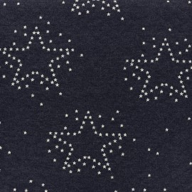 Quilted Sweat fabric Comète - midnight blue x 10cm