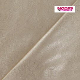 Flexible imitation leather - golden x 10cm