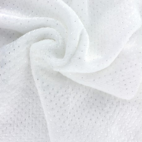 Point d'argent baby's security blanket soft - white x 10cm