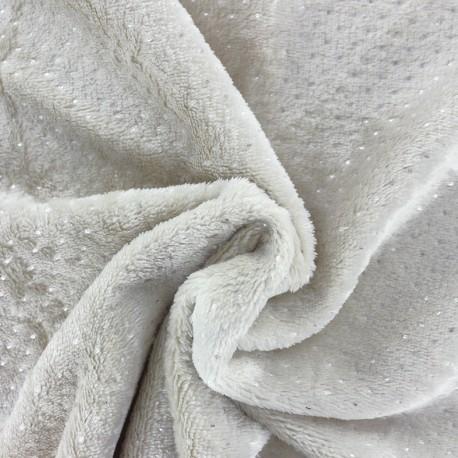 Tissu Oeko-Tex Doudou Point d'argent - beige x 10cm
