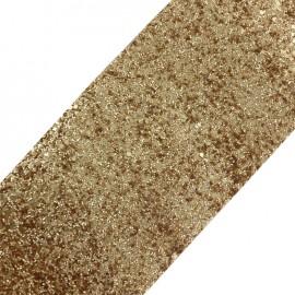 Bande glitter largeur 10 cm - doré mat x 50cm