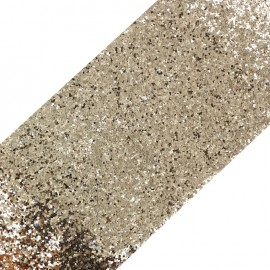 Bande glitter largeur 10 cm - doré brillant x 50cm