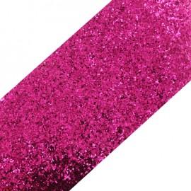 Bande glitter largeur 10 cm - fuchsia brillant x 50cm