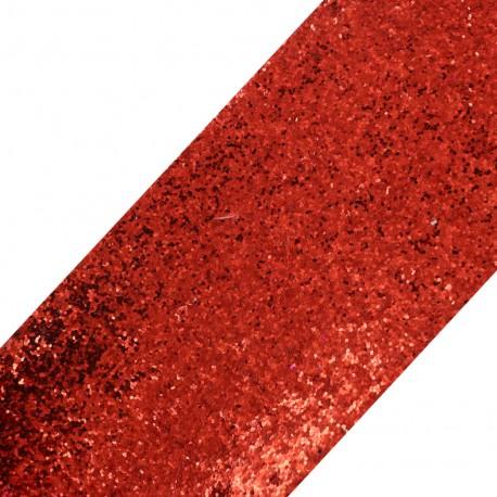 Bande glitter largeur 10 cm - rouge brillant x 50cm