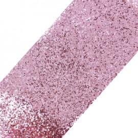 Glittery ribbon 10mm - petal pink x 50cm