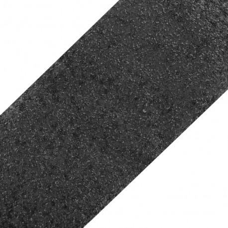 Glittery ribbon 10mm - bright ebony x 50cm