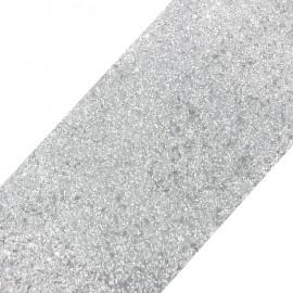 Bande glitter largeur 10 cm - perle mat x 50cm