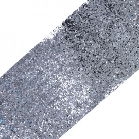 Bande glitter largeur 10 cm - acier brillant x 50cm