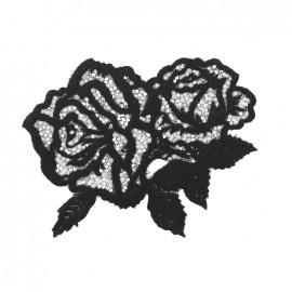 Thermocollant La folie des roses pailletées - noir/argent