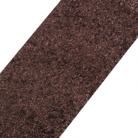Glittery ribbon 10mm - mate cocoa x 50cm