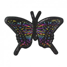 Thermocollant Des papillons en pagaille - noir/multicolore