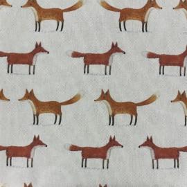 Cotton fabric Christmas woodland - fox x10cm
