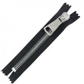 Non-seperable Zipper XL - black/silver