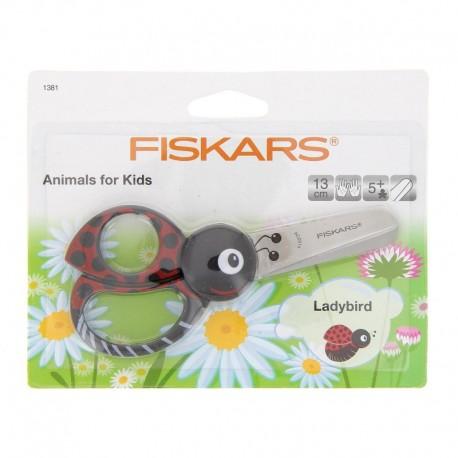 Scissors children - Ladybug 13 cm, right-handed and g - Fiskars
