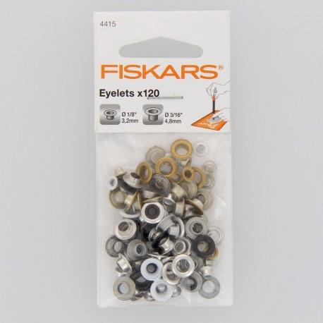 """Oeillets Ronds x 120 (1/8"""" 3/16"""") - Fiskars"""