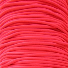Fil élastique rond rouge fluo 2.5