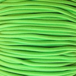 Fil élastique rond vert fluo 2.5