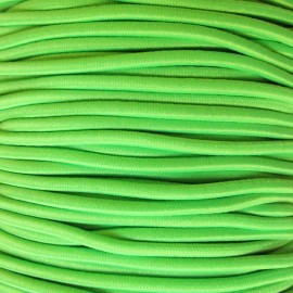 Rounded Elastic thread 2,5 mm - fluorescent green