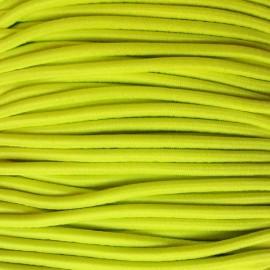 Fil élastique rond jaune fluo 2.5