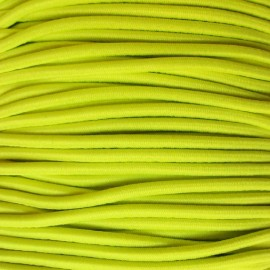 Rounded Elastic thread 2,5 mm - fluorescent yellow