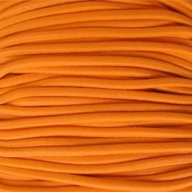 Rounded Elastic thread 2,5 mm - fluorescent orange