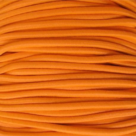 Fil élastique rond orange fluo 2.5
