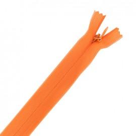 Fermeture éclair à glissière invisible non séparable - orange