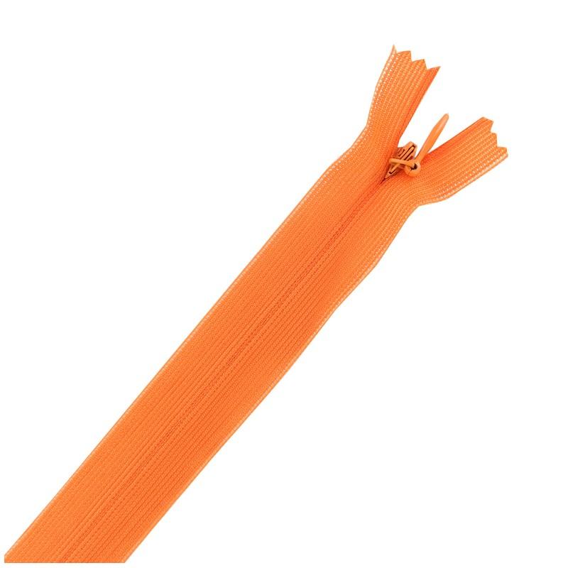 zip glissi re invisible non s parable orange. Black Bedroom Furniture Sets. Home Design Ideas