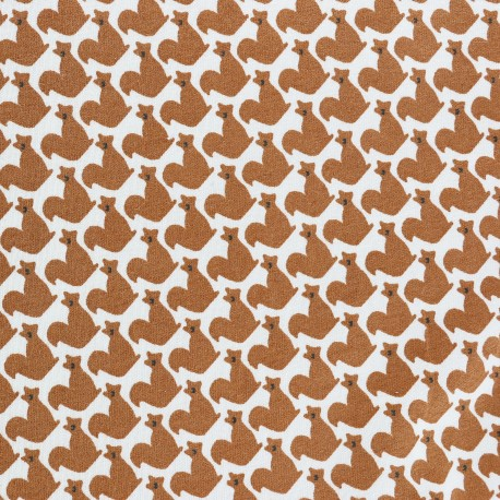 The little rodent Jersey fabric - white x 10cm