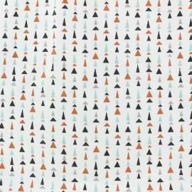 Tissu Jersey All Triangles - blanc x 10cm