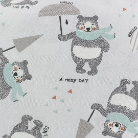 Cotton King In a rainy day - grey x 31cm