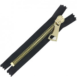Non-seperable Zipper XL - black/gold