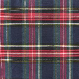 Tissu toile de coton Petit Écossais - vert x 10cm