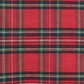 Tissu toile de coton Petit Écossais - rouge x 10cm