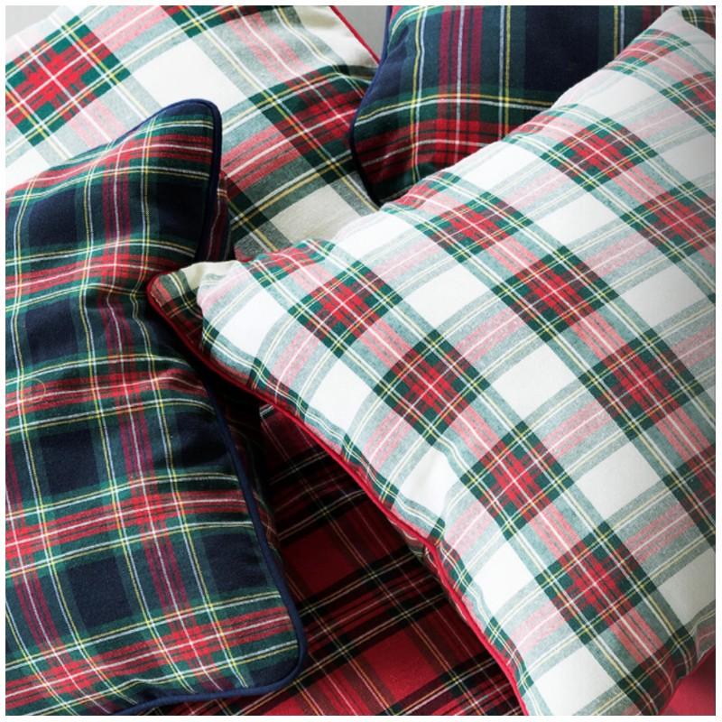 Tissu toile de coton petit cossais grande largeur 280cm - Marque de tissu d ameublement ...