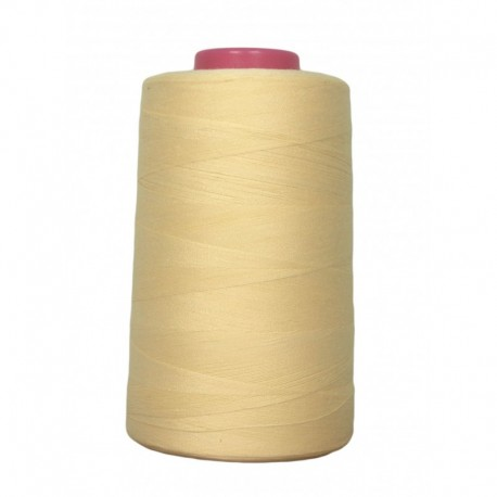 Cone of thread sewing yellow 4 573 m 100% polyester - sewing hobbies