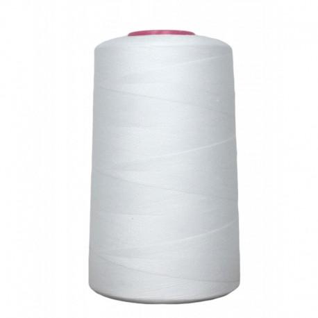 Cone de fil à coudre blanc 4 573 m 100% polyester - Couture loisirs