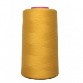 Cone de fil à coudre jaune or 4 573 m 100% polyester - Couture loisirs