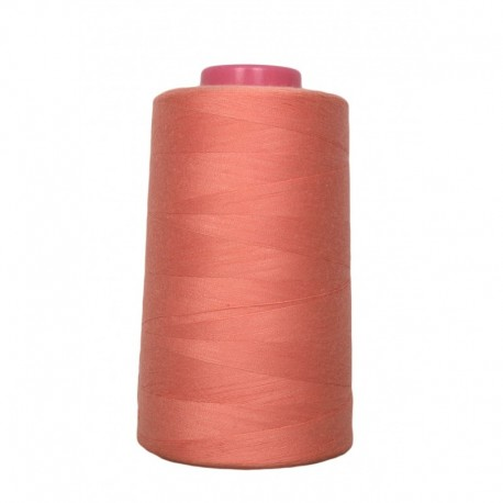 Cone of sewing thread salmon 4 573 m 100% polyester - sewing hobbies