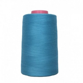 Cone of thread sewing blue 4 573 m 100% polyester - sewing hobbies